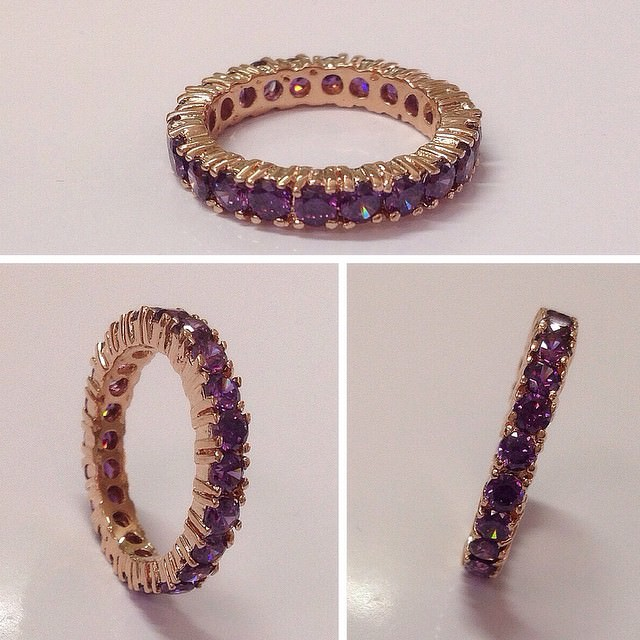 gold purple ring