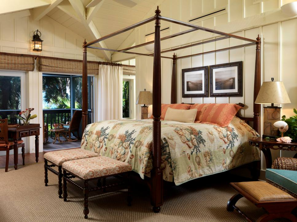 Open Tropical Master Bedroom Design
