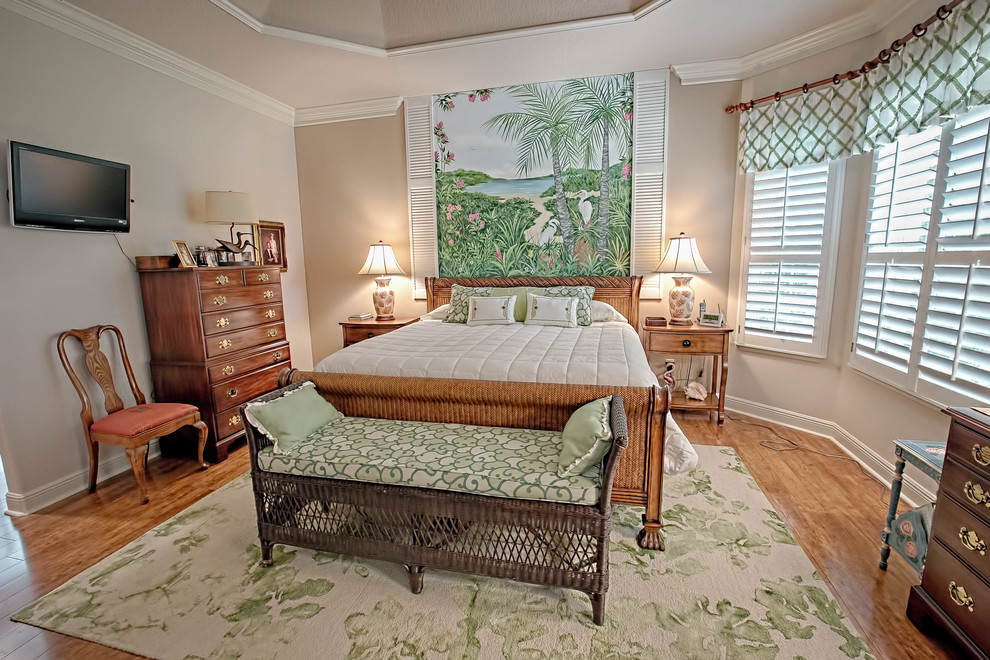 Classy Tropical bedroom Design
