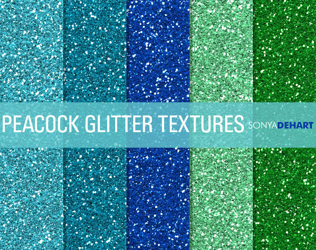 Beautiful Colored Glitter Texture Patterns
