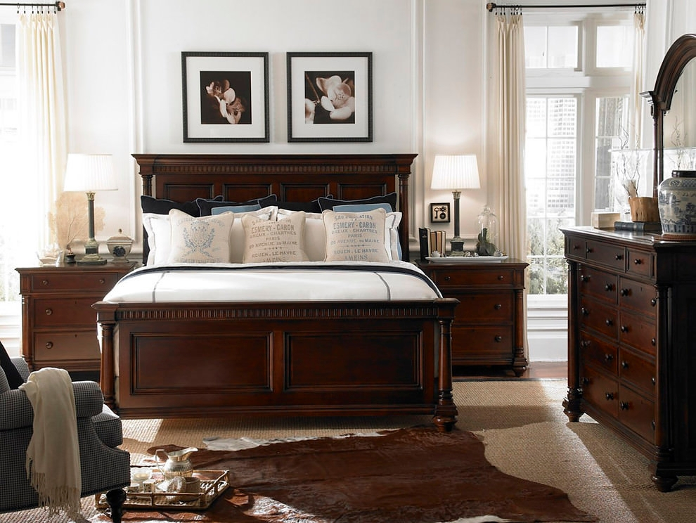 Solid Dark Bedroom Furniture Design