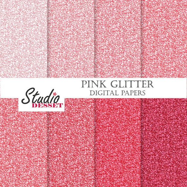 Pink Glitter Digital Patterns