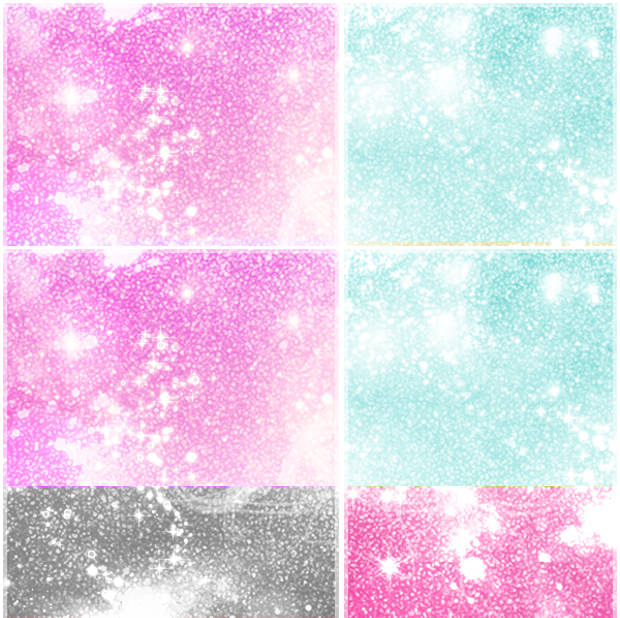 Pink and Blue Glitter Patterns