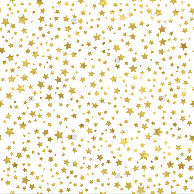 Abstract Gold Star Glitter Pattern