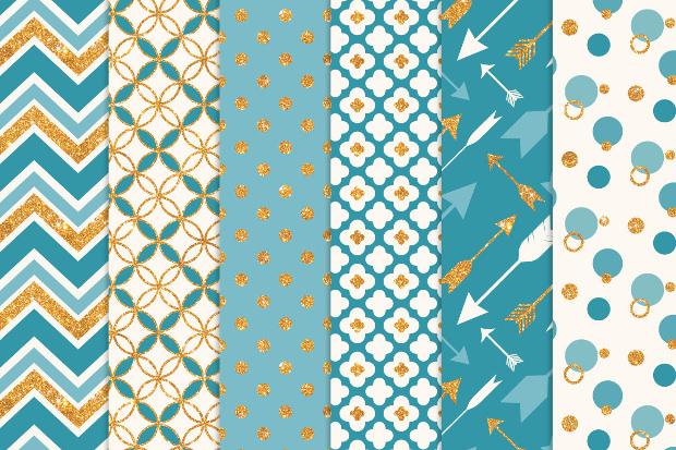 vintage blue glitter pattern