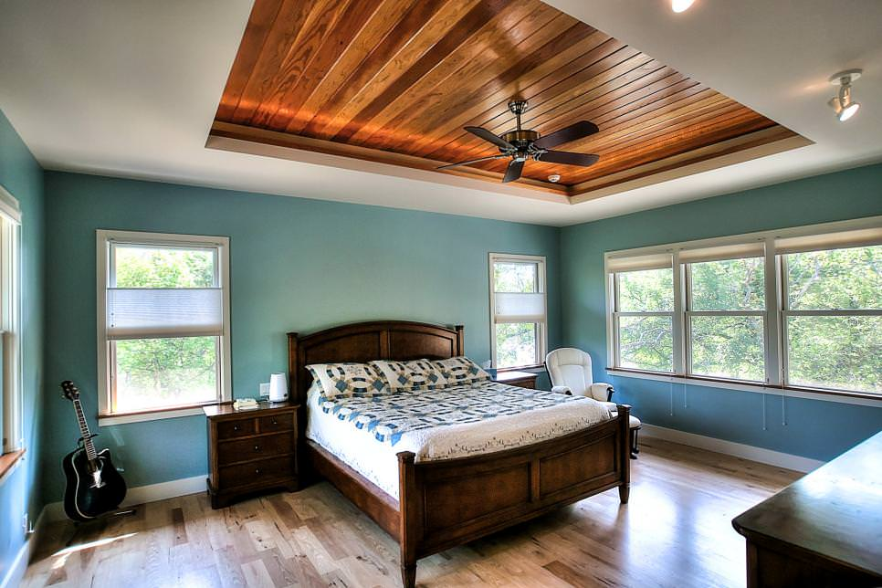 Turquoise Bedroom Dark Wood Furniture