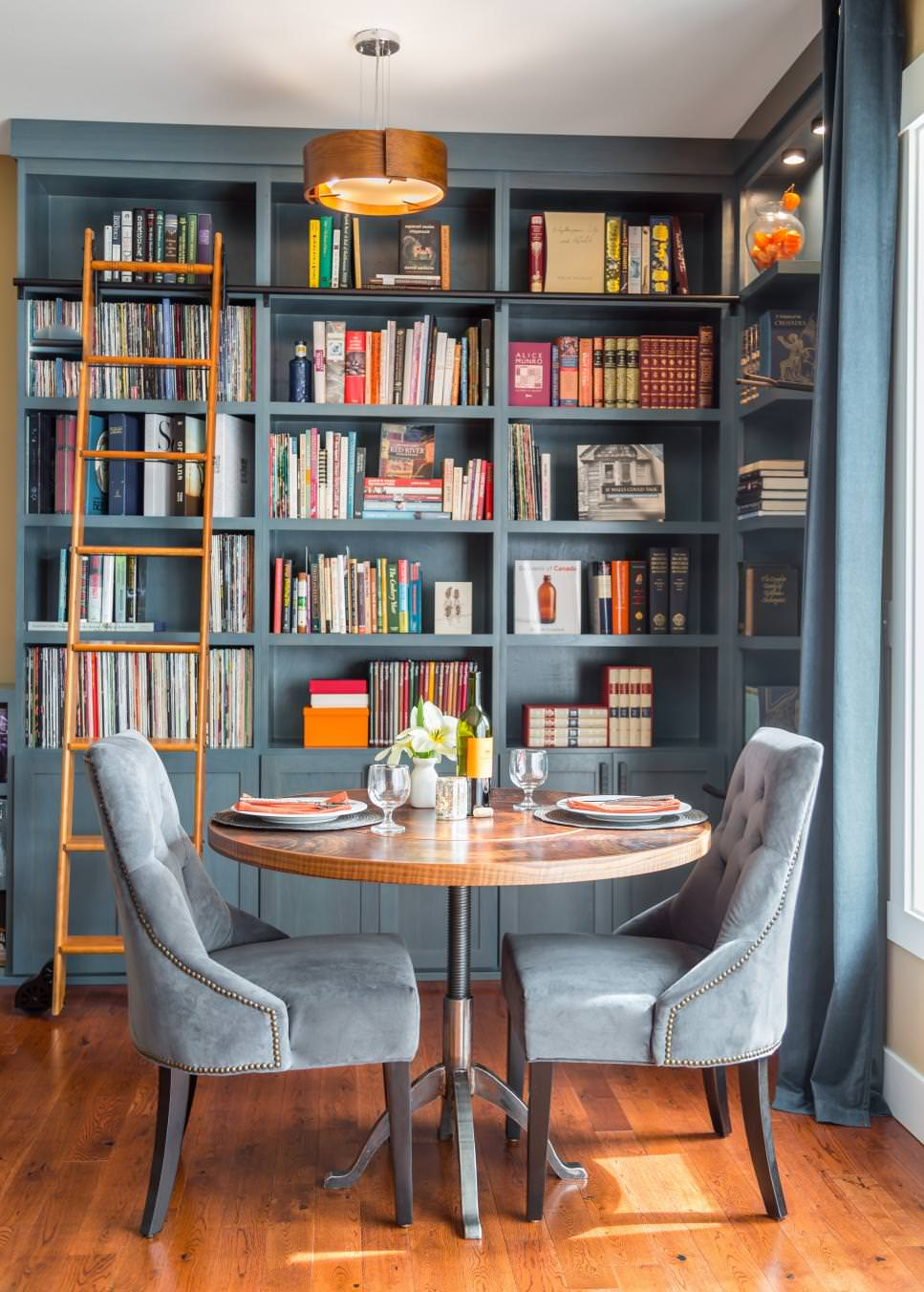 Home Library Design: 23+ Small Dining Table Designs, Decorating Ideas
