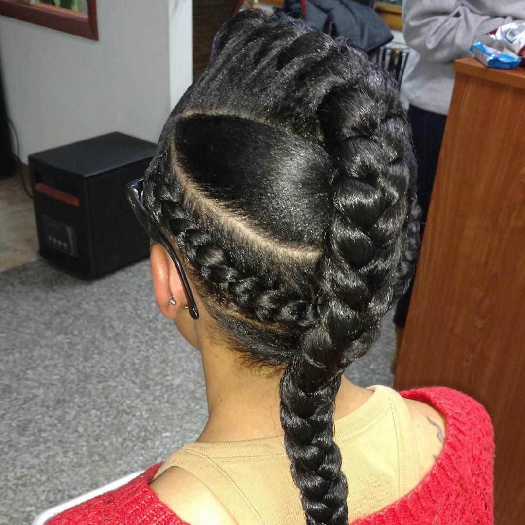 different long braid hair