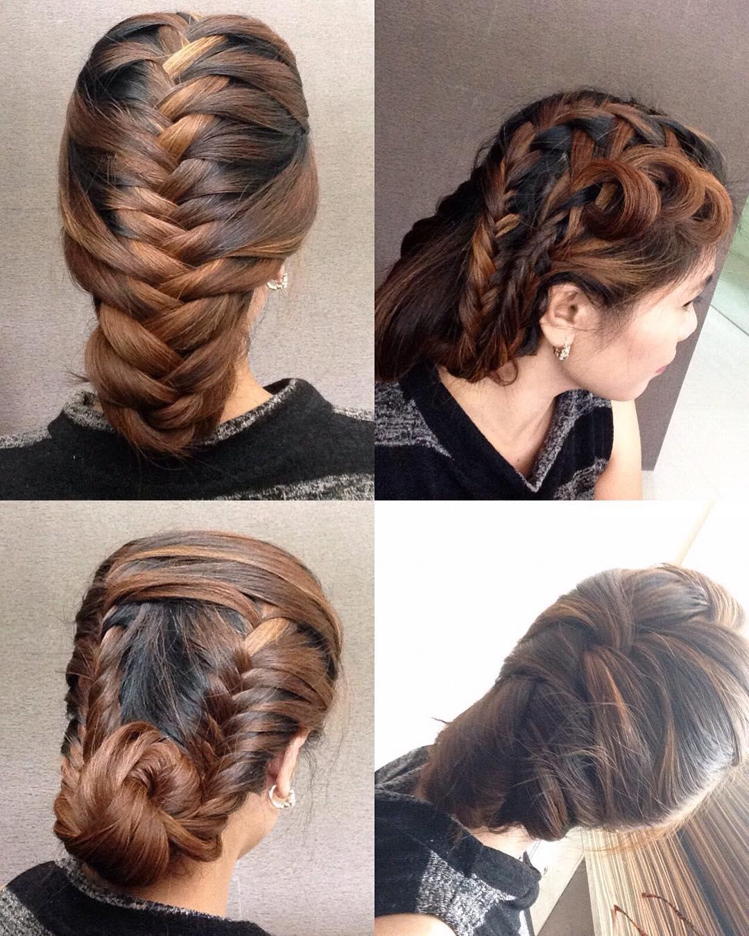 long french split braid