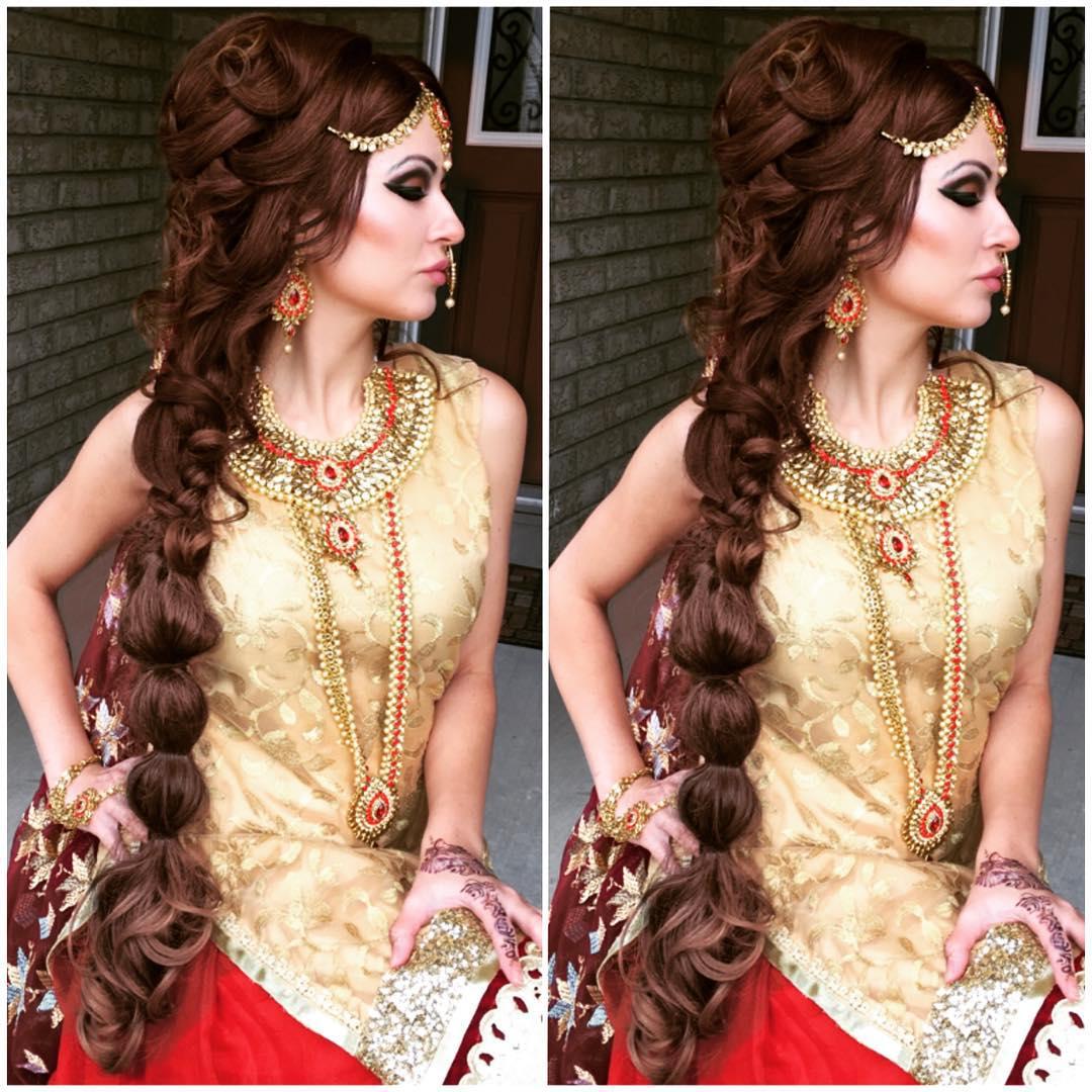 long wedding braided hair
