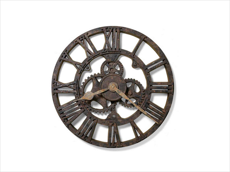 antique industrial wall clock design