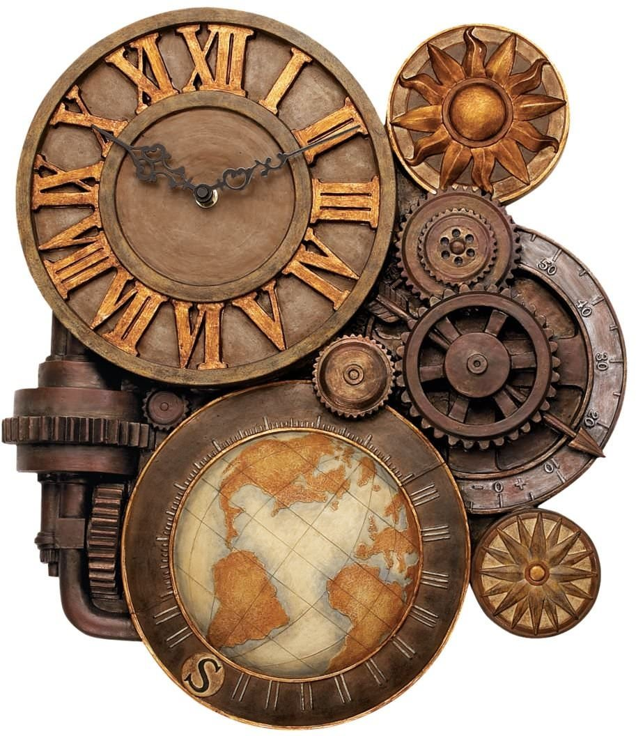Home Design Ideas Handmade: 25+ Industrial Wall Clock Designs, Ideas