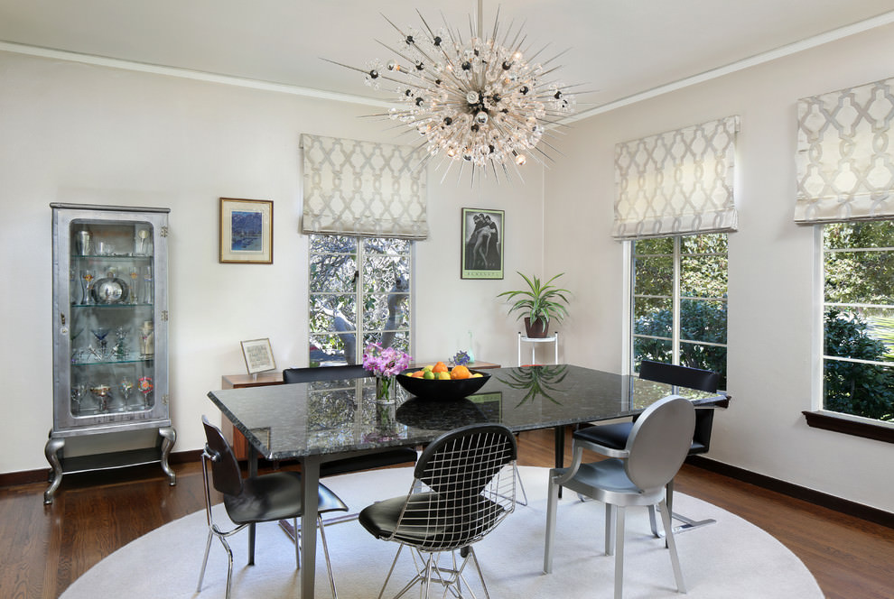 midcentury dining room simple sputnik chandelier