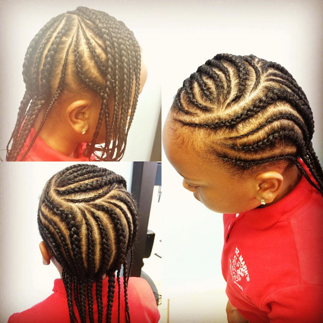 Stupendous Braided Hairstyles For Kids With Beads Braids Hairstyle Inspiration Daily Dogsangcom