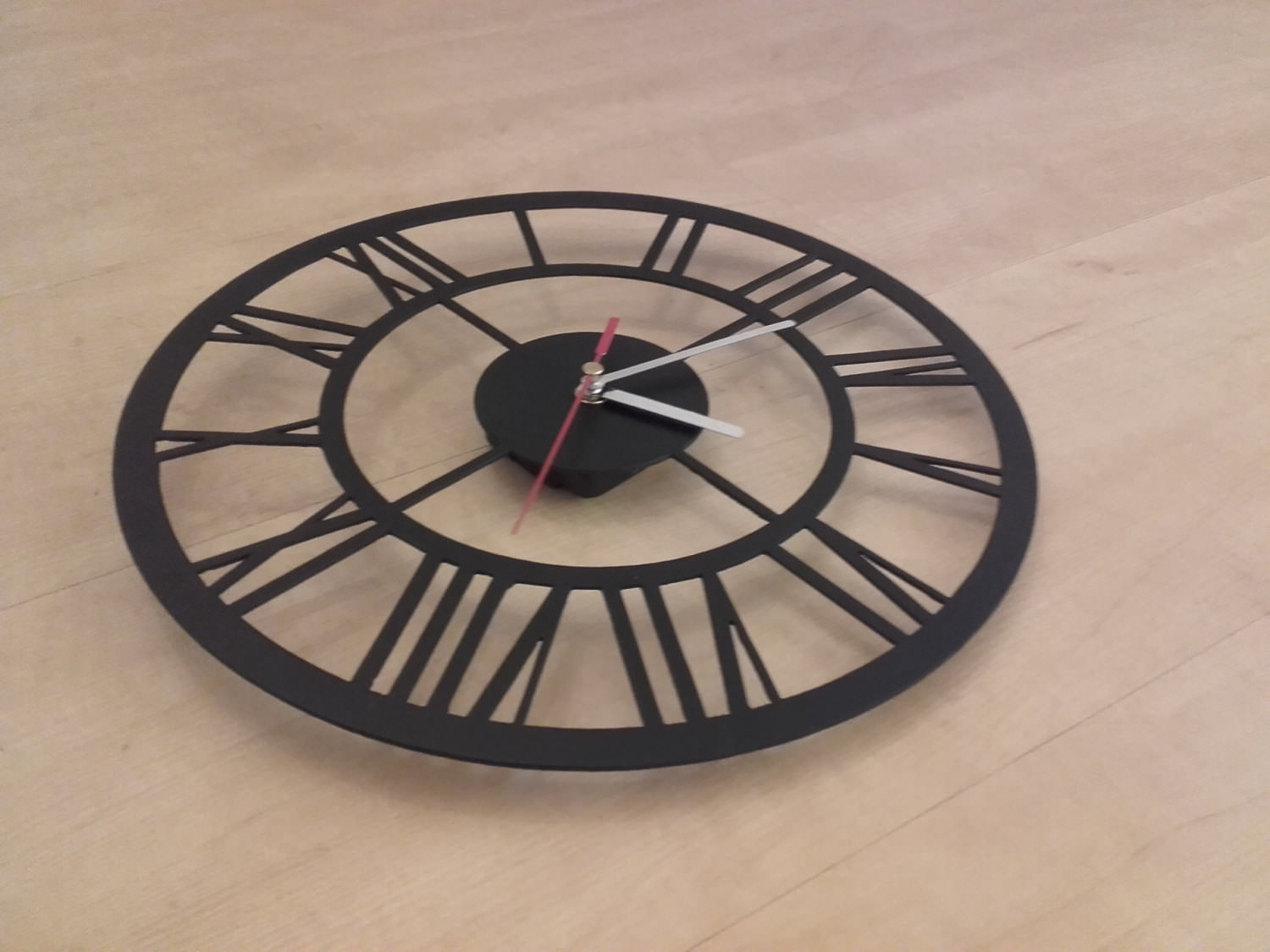 art deco industrial wall clock