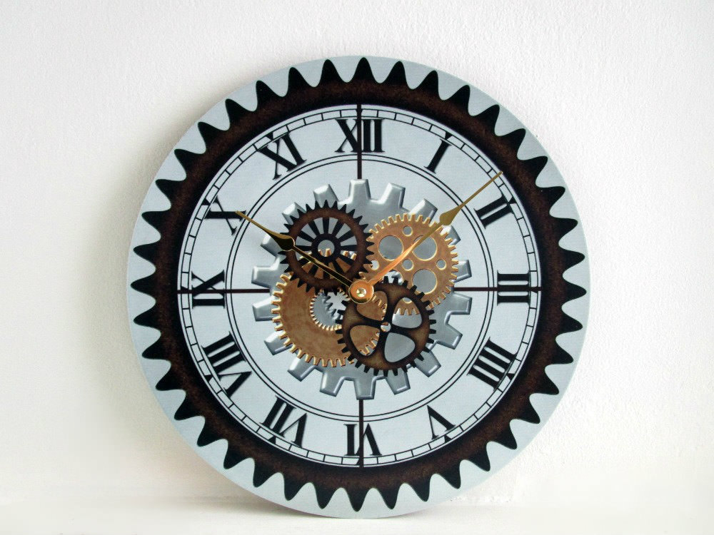 creative industrial wall clock