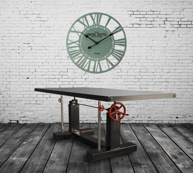 custom industrial wall clock