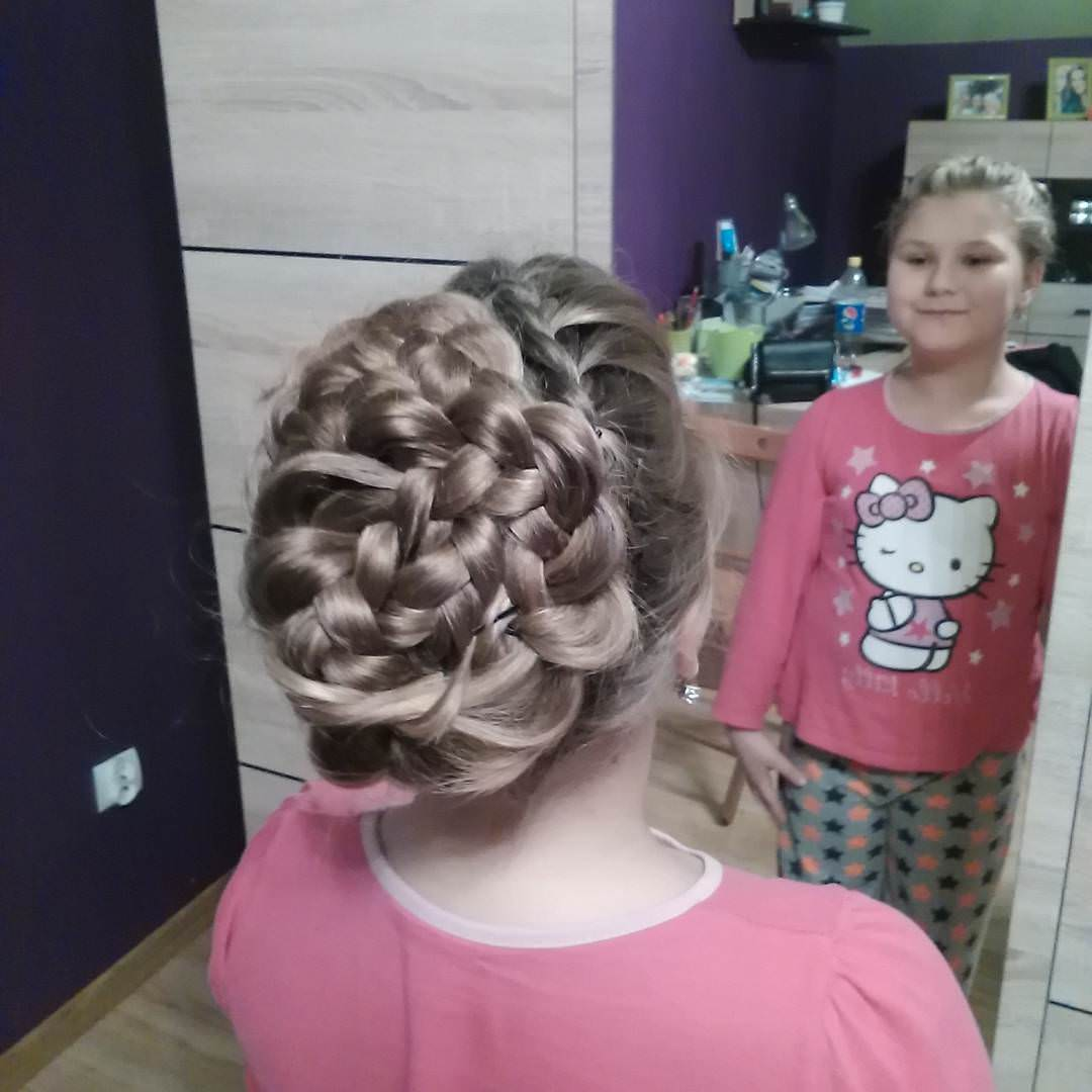 Nice Looking Braid Hairstyle for Kids