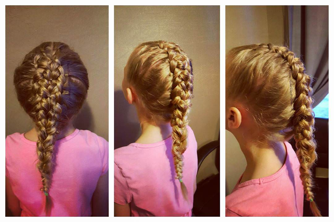 Simple Braid Hairstyle for Kids