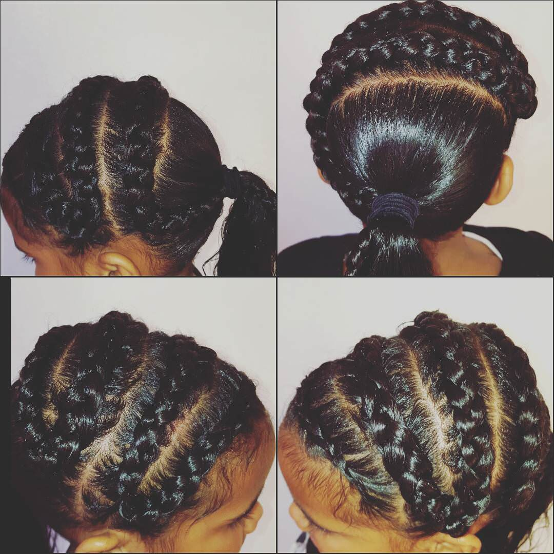 Black Braid Hairstyle for Kids