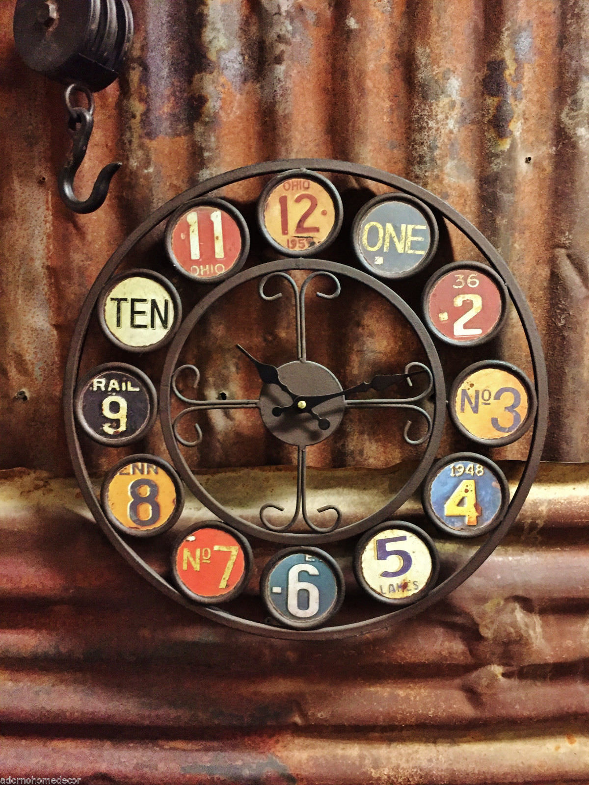 chic industrial wall clock