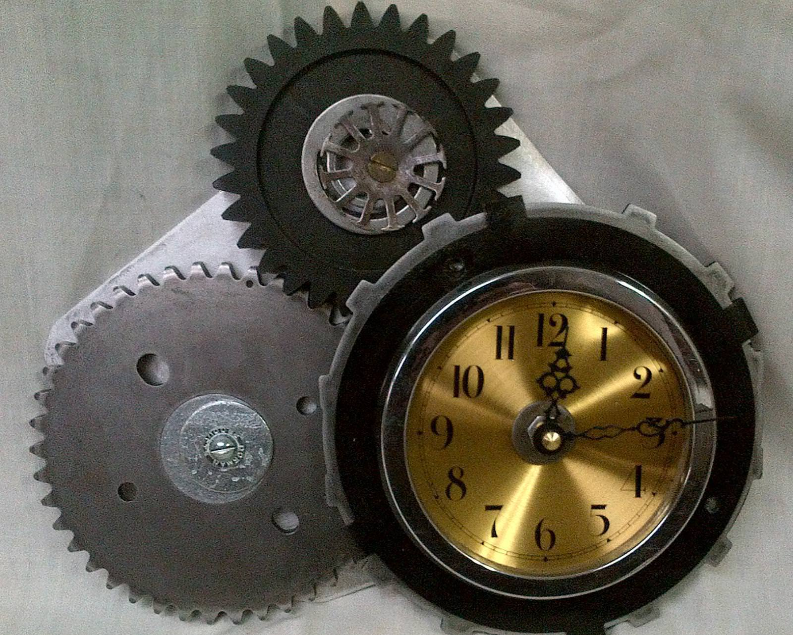 innovative industrial wall clock