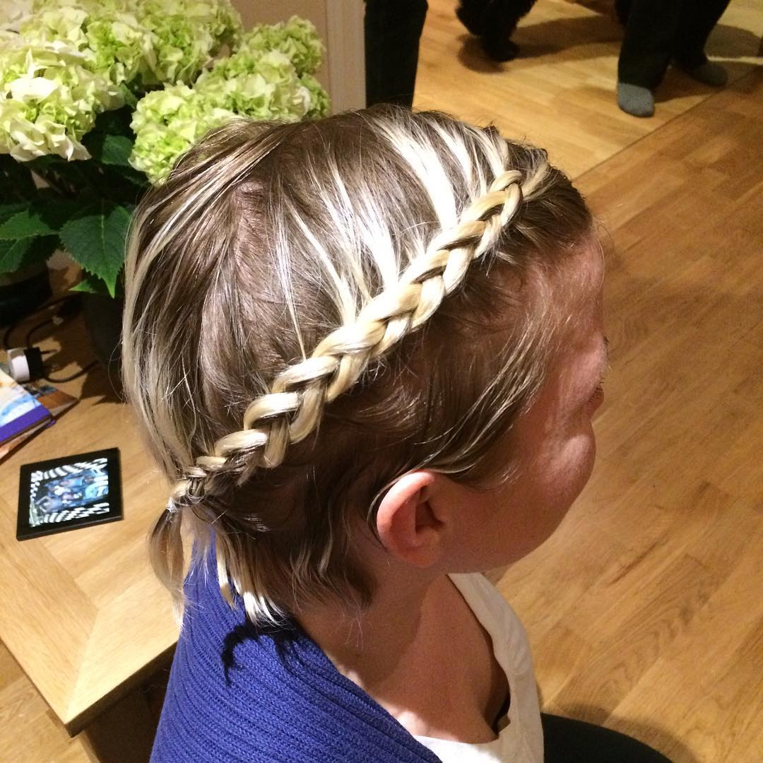 Gold Shining Braid Hairstyle for Kids