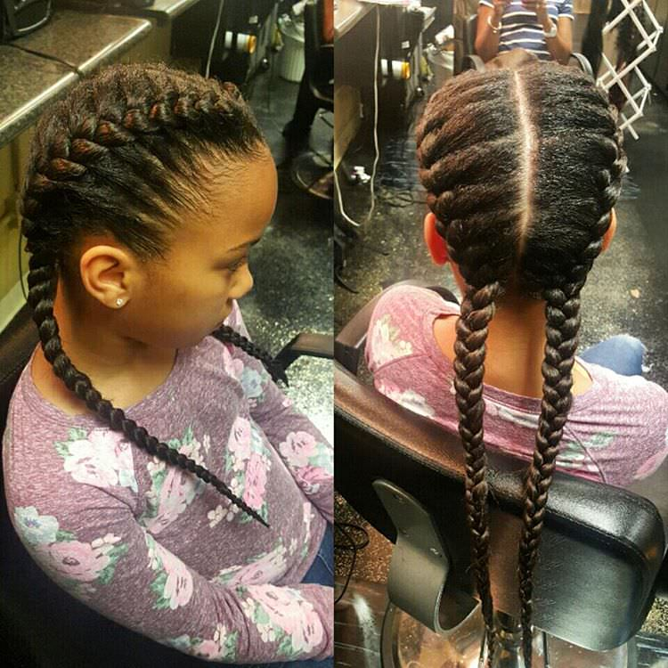 classy braid style for kids
