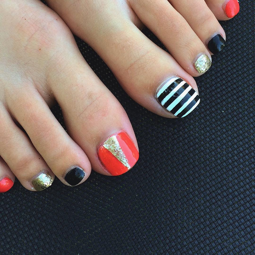 23+ Black Toe Nail Art Designs, Ideas | Design Trends - Premium ...