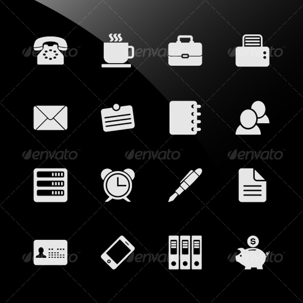 Office and Workplace Business Web Icons