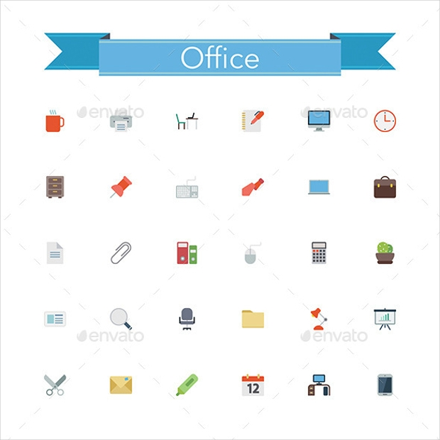 Office Flat Icon Set