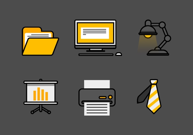 Set of Workplace Icons