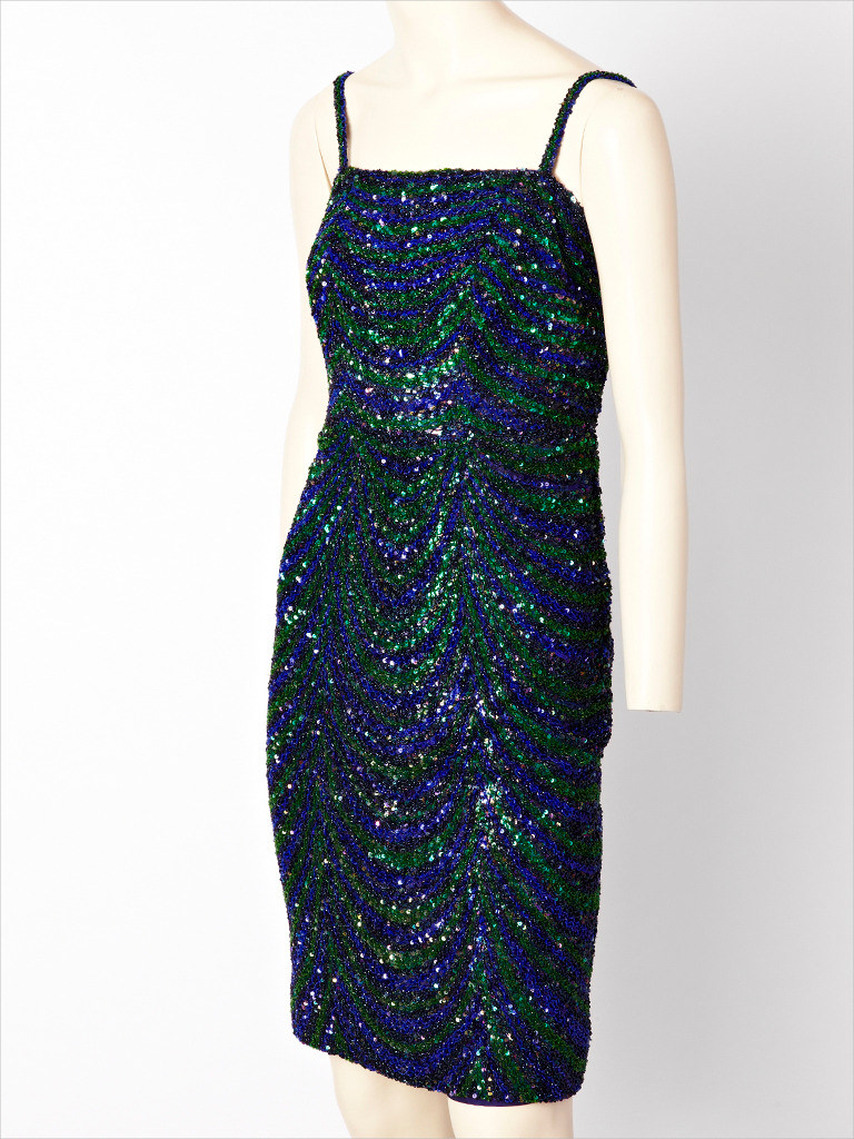 dior beaded cocktail dress