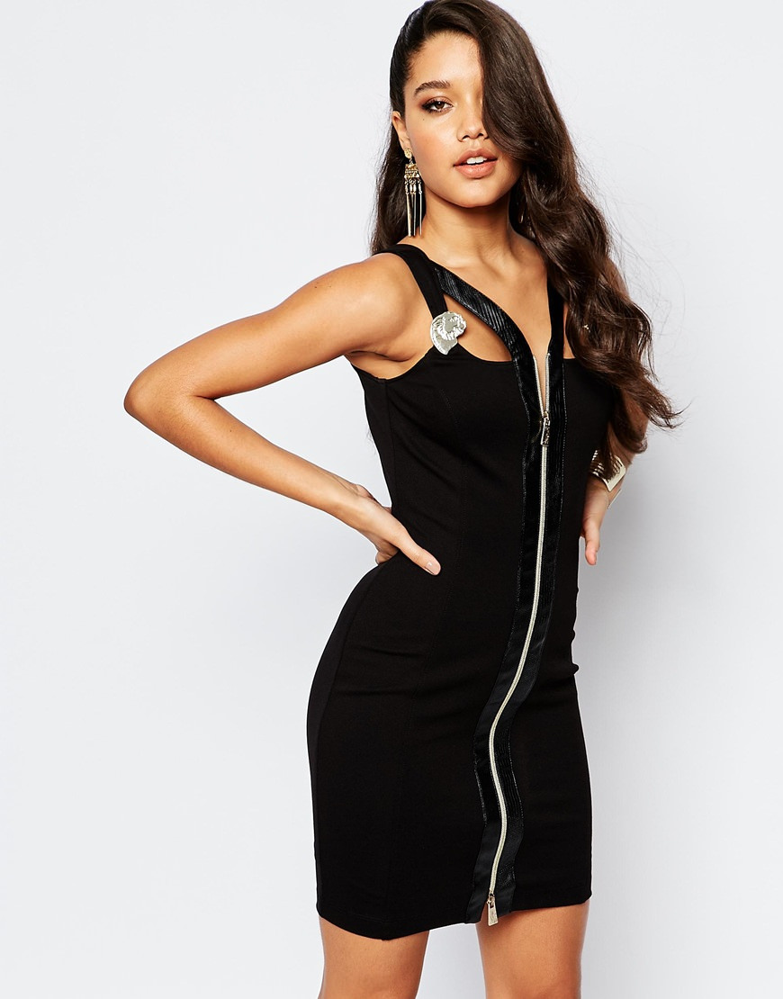 Versace Jeans Cutout Bodycon Dress