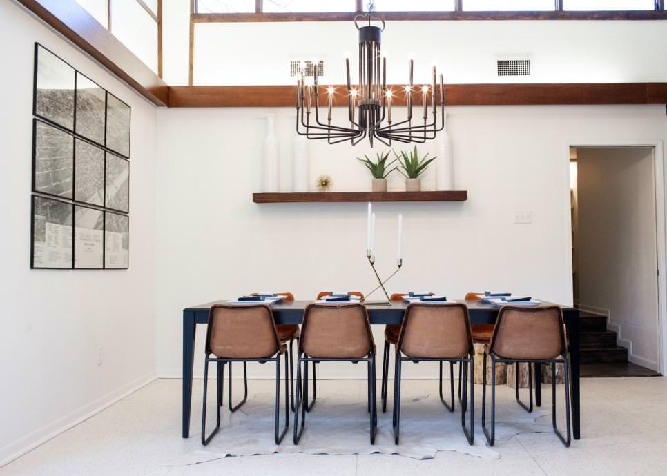 modish metal dining room chandelier