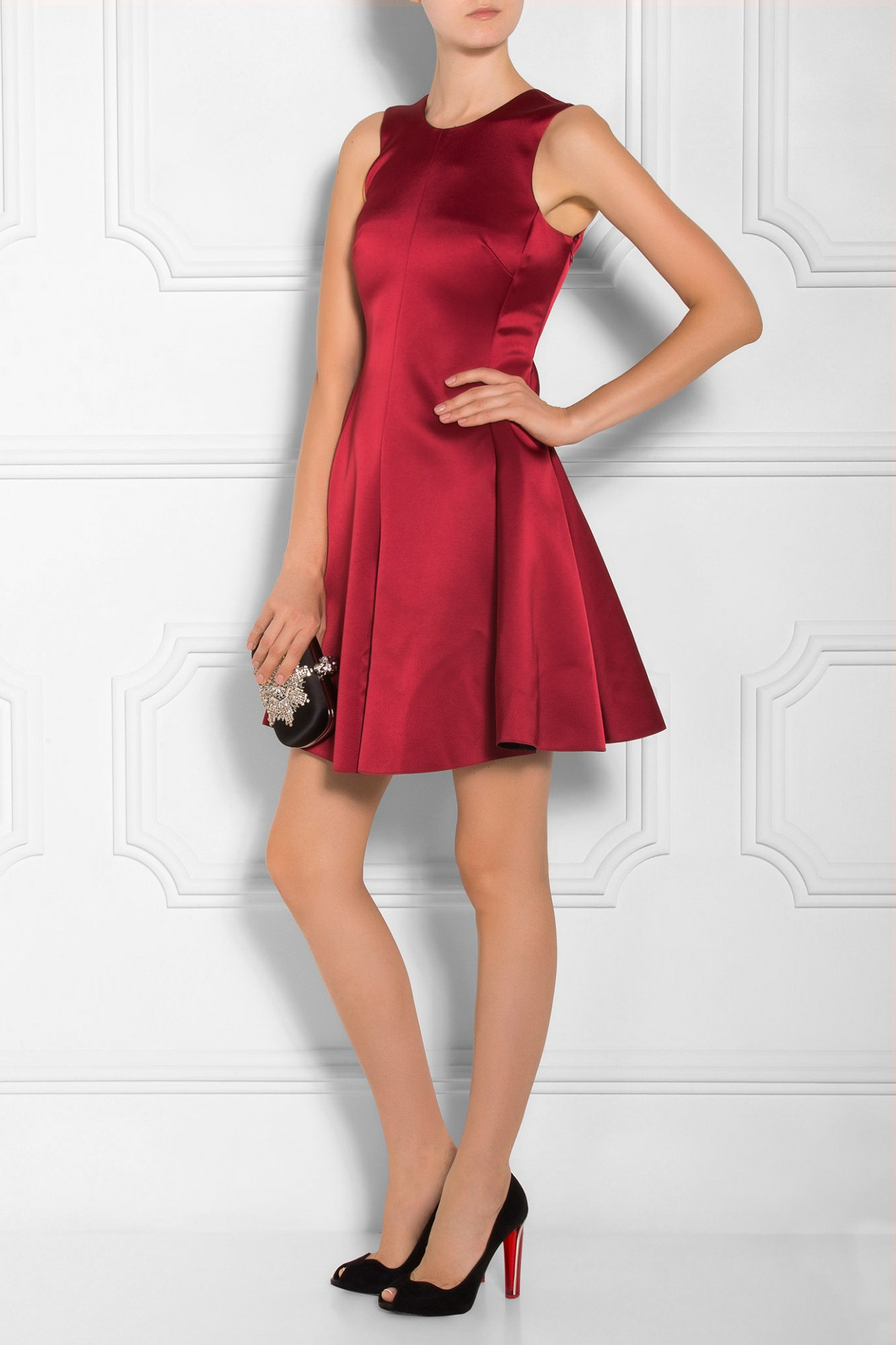 Armani Satin Bow Back Dress