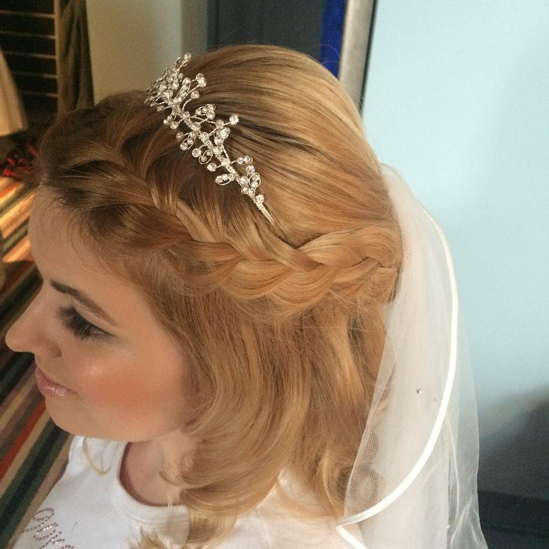 Bridal-Braided Hairstyel for Girl