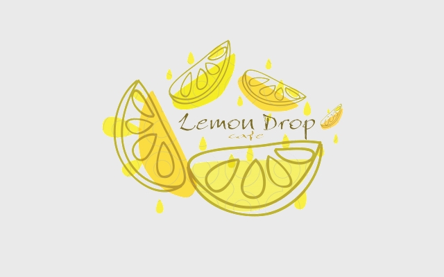 lemon natural logo design