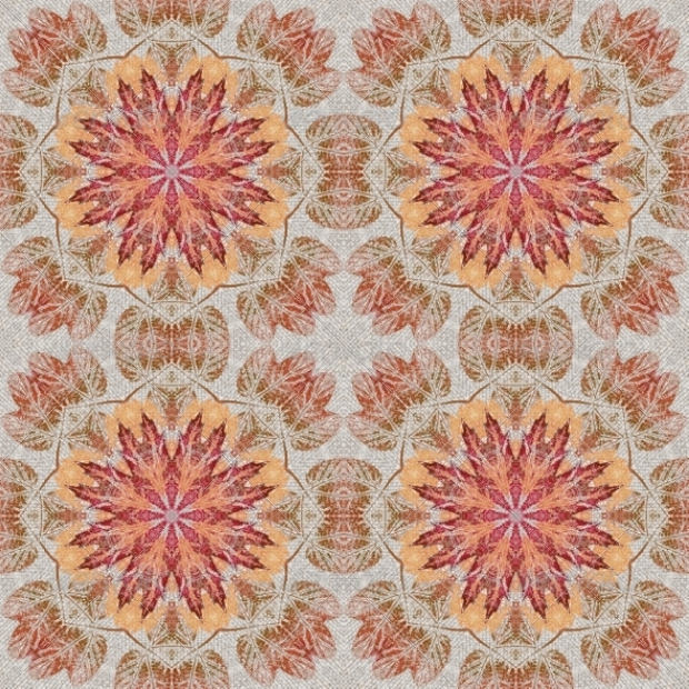 Floral Seamless Pattern on Fabric