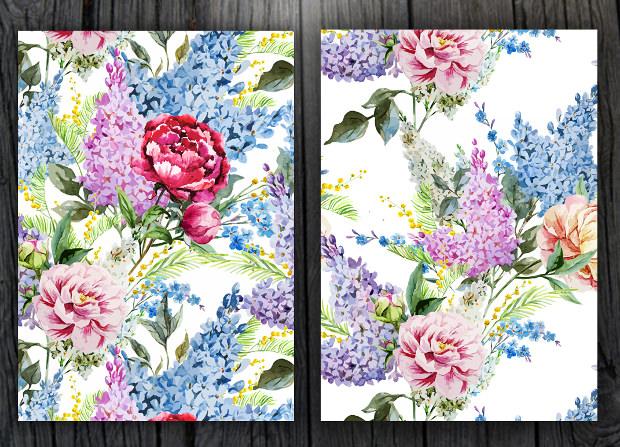 elegant fabric floral pattern