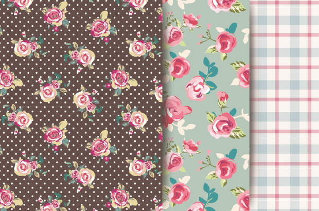 Vector Floral Fabric Pattern