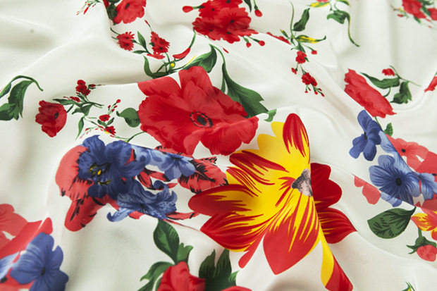 Nice Fabric Floral Pattern on Silk