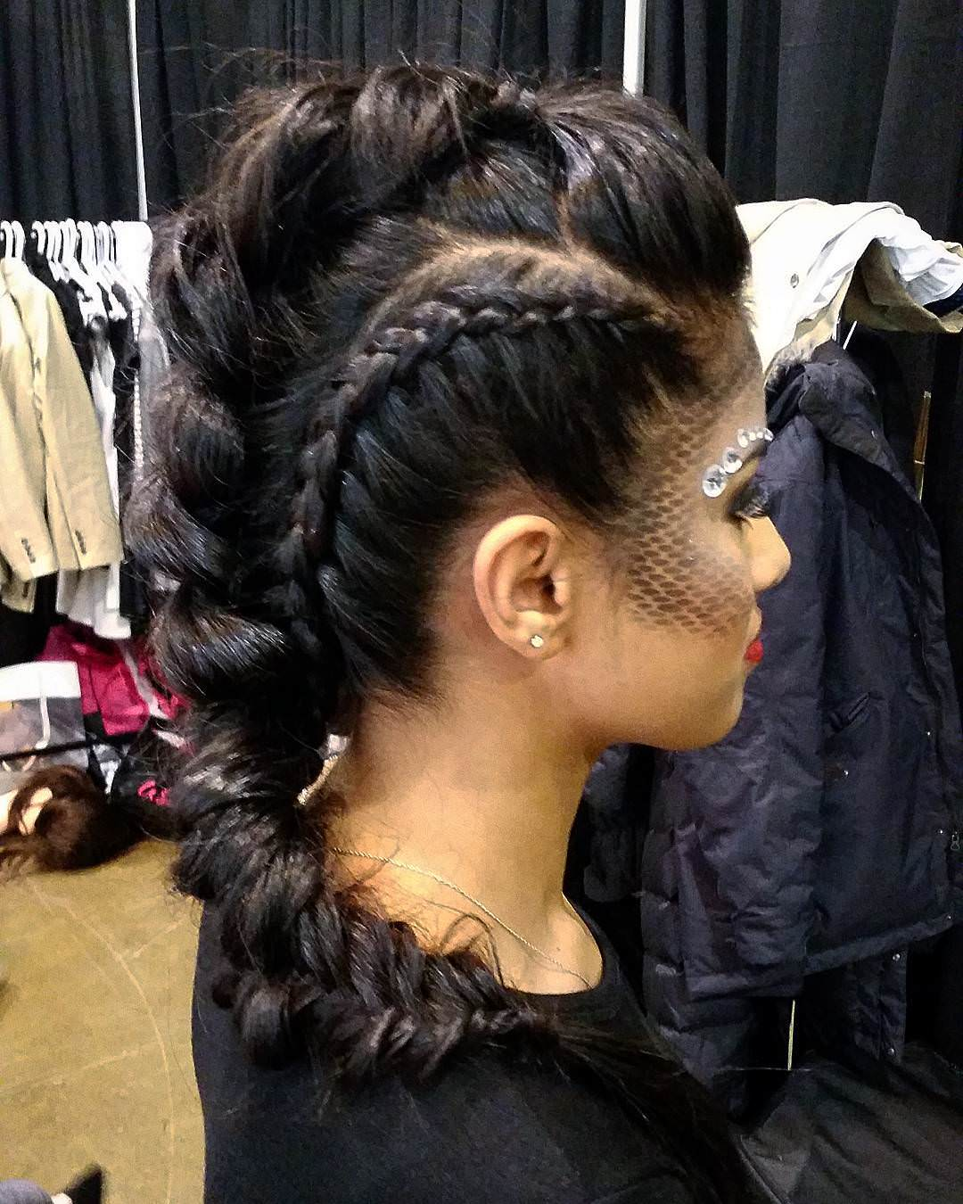 High Pony Braided Hairstyle for Girls
