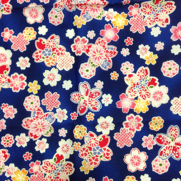 Blue Floral Fabric Pattern