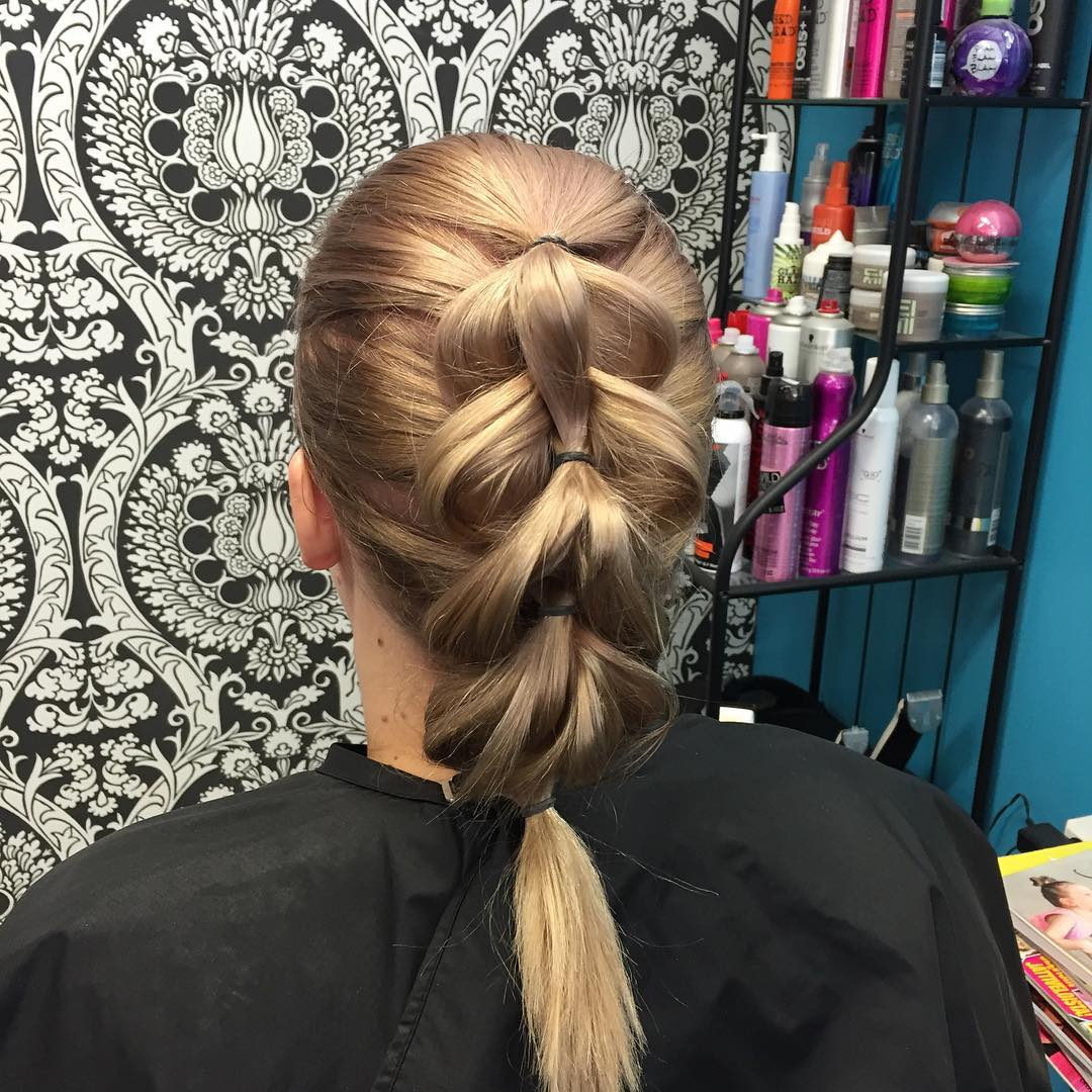 Step Braided Hairstyle for Girls