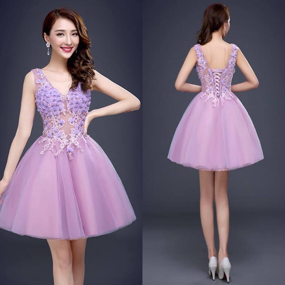 Lavendar Classy Gown