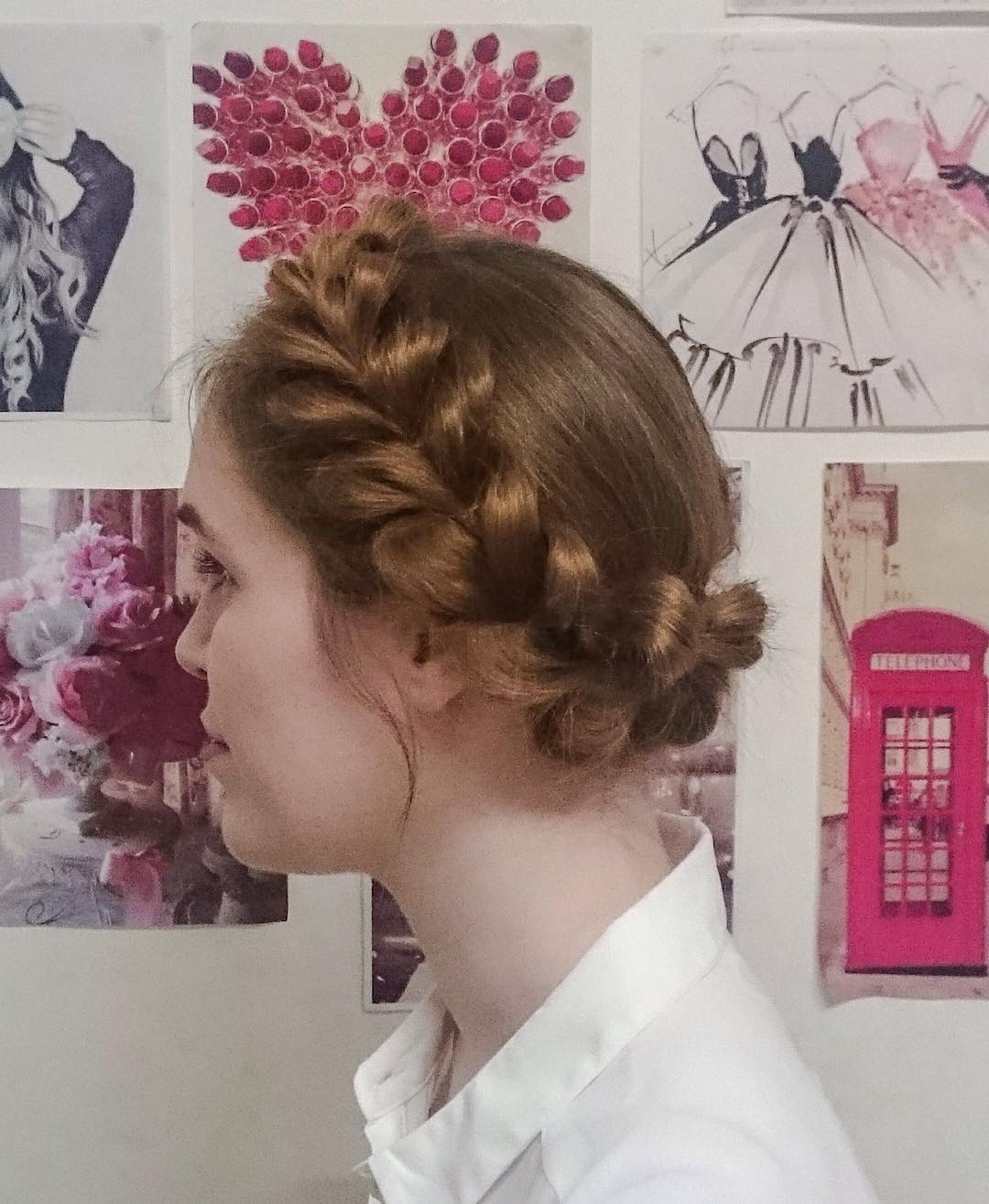 Simple & Nice Braided Hairstyle for Girls