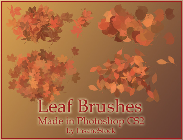 good quality fall leaves brushes
