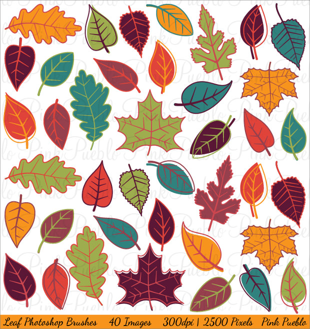 high resolution fall leaves photoshop brushes