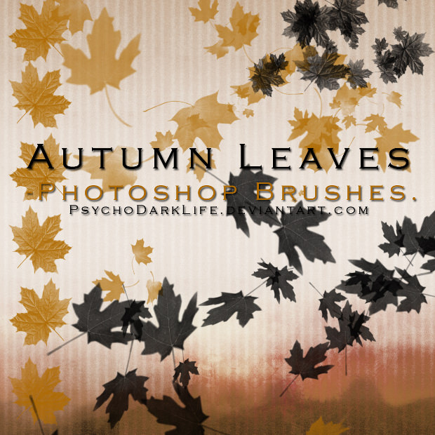 awesome fall leaves brushes